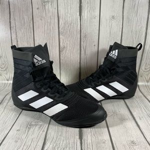 Adidas Speedex 18 Mens Black Boxing Shoes Sz 11.5